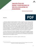 Hacia la superación ética dl especismo. Unidad y escencialidad de todos los seres en la voluntad de vivir schopenhaueriana - María Jesús Saravia San Martín.pdf