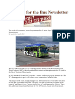 Waiting for the bus news letter