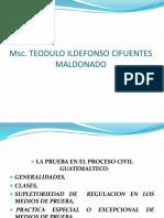 La Prueba en El Proceso Civil Guatemalteco.