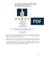 Homex Reporte Anual 2015