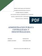 Administracion publica centralizada y descentralizada