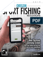 State of Oregon 2019 fishing regulations revised