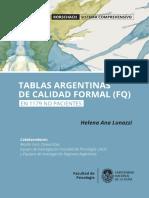 Rorschach. Tablas Argentinas.
