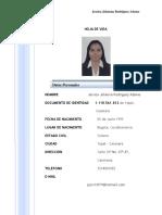 Hoja de Vida Jessica Rodriguez Adame