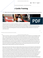 Common Sense Cardio Training by Nick Mitchell - UP Fitness