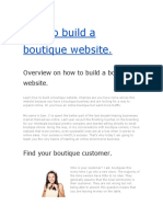 How to Build a Boutique Website