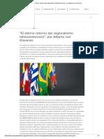 _El Eterno Retorno Del Regionalismo Latinoamericano_, Por Alberto Van Klaveren