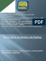 Apresentação Teoria Do Direito e Da Política. Aula 3