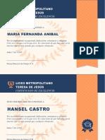 Certificados Dia Estudiante