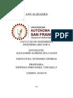 Anualidades de Alexander Zea Casani Formato Apa