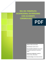 Rol Del Terapeuta Ocupacional en Pacientes Con Accidentes Cerebrovascular