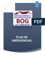 4.2. Plan de Emergencias