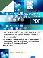 Presentación Investigación Colegio Pablo Neruda 2018