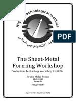 Sheet Metal Forming Workshop