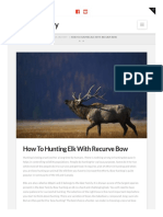 Bowarchery.com How to Hunting Elk With Recurve Bow