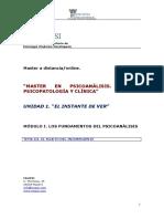 Ipsi.master en Psicoanalisis.tema III.el Sujeto Del Inconsciente
