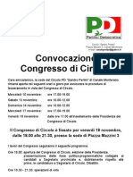 Convocazione Congresso Di Circolo 2010