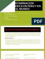 Contaminación Atmosférica en el Peru y el mundo