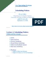 4 Scheduling Policies