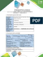 Guía de Actividades y Rubrica de Evaluación - Actividad 3 - Colaborativo 2