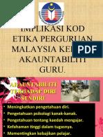 Implikasi Kod Etika Perguruan Malaysia Kepada Akauntabiliti Guru