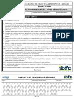 Ibfc 2017 Embasa Agente Administrativo Prova