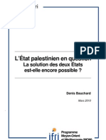 L'Etat palestinien en question