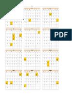 2011 Calendar 1page Letter Mon-Sun