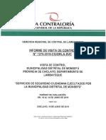 Informe de Contraloria sobre SEGURIDAD CIUDADANA - Monsefú (2019)