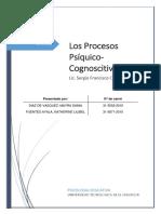 Los Procesos Psíquico-Cognoscitivos