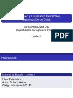 Estadística Descriptiva, diapositivas