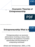 FileEnt Con & Iss Chapter 2 Economic Theories of Entrepreneurship
