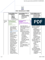 UDL Guidelines in Math