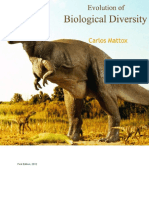 Carlos Mattox - Evolution of Biological Diversity (2012, University Publications)