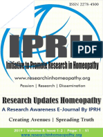 Research Updates Homeopathy by IPRH Vol 8 Issue 1- 2