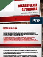 DISRREFLEXIA AUTONOMA