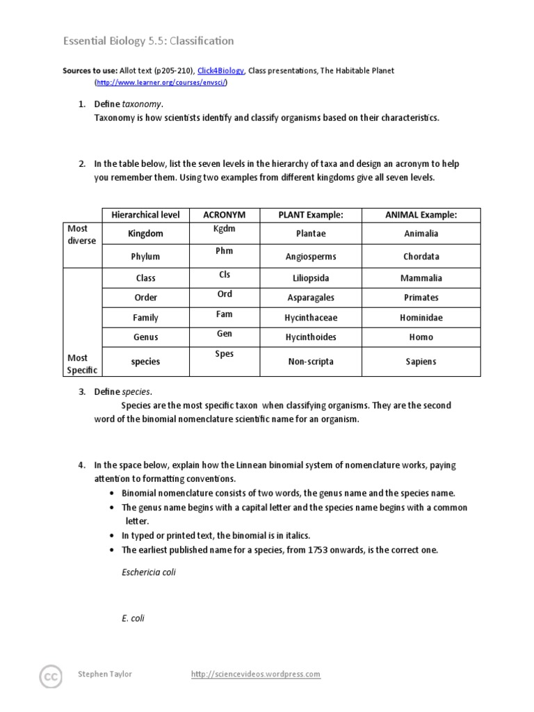 Worksheets Nomenclature Worksheet Answers binomial nomenclature worksheet answers joindesignseattle