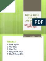 ppdh3_Cấu trúc chương trình HH hiện hành của trường phổ thông Việt Nam