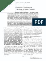 Journal of Verbal Learning and Verbal Behavior Volume 22 Issue 4 1983 [Doi 10.1016%2Fs0022-5371%2883%2990291-8] Timothy P. McNamara; Robert J. Sternberg -- Mental Models of Word Meaning