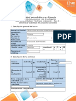 Guía de actividades y rúbrica de evaluación - Fase 3 - Determinar viabilidad del proyecto sostenible.docx