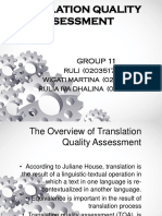 Ppt Translation Quality Assessment