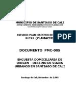 ESTUDIO PLAN MAESTRO DE CICLO-RUTAS - ENCUESTA DOMICILIARIA DE ORIGEN – DESTINO DE VIAJES  URBANOS EN SANTIAGO.pdf