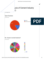 Market Analysis of Cement Industry (Indira Nagar)