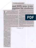 Manila Bulletin July 2, 2019, Solons lauds DOTr over train fare exemption for students.pdf