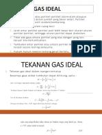 Ciri-Ciri Gas Ideal