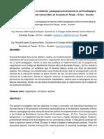 Programa de capacitación en didáctica y pedagogía para docentes sin perfil pedagógico del Colegio de Bachillerato Carmen Mora de Encalada de  Pasaje – El Oro - Ecuador.docx