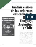 Análisis de las reformas educativas