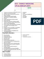 Mcps Fm & Mrcgp Int - Syllabus-3
