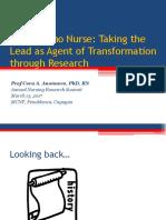 Talk Fil Nurse Taking Lead as AgentofTransformation Through Research