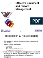 effective document and record management